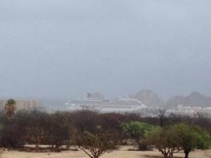 cruise ship rain
