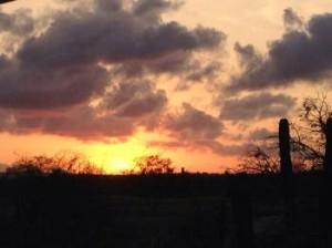 rain sunset