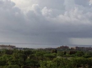 hotel storm in Cabo